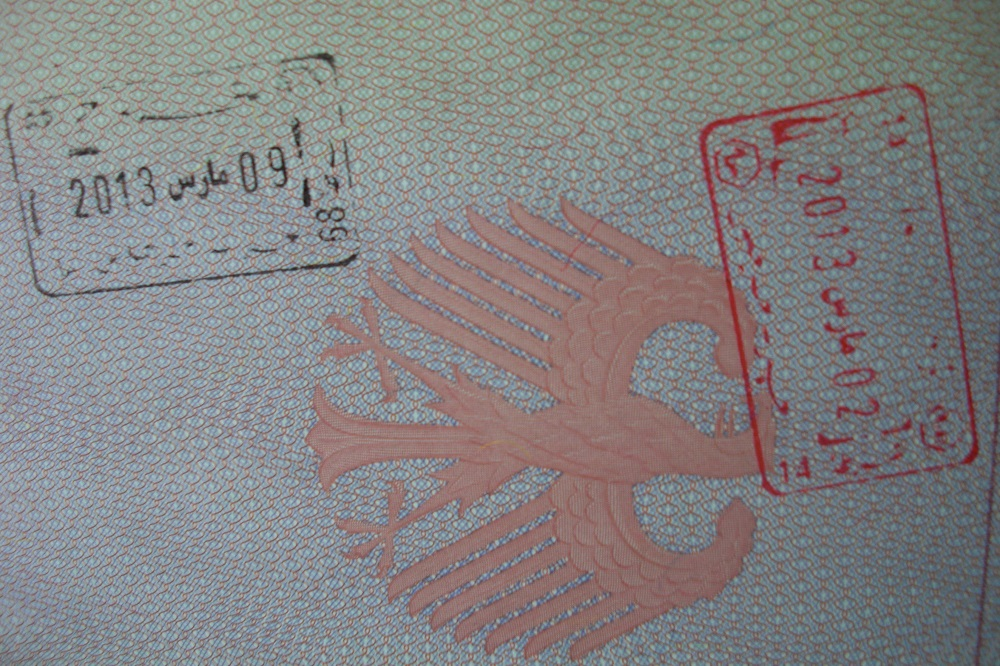The Redhead Story -Passport Stamp Tunisia-Djerba