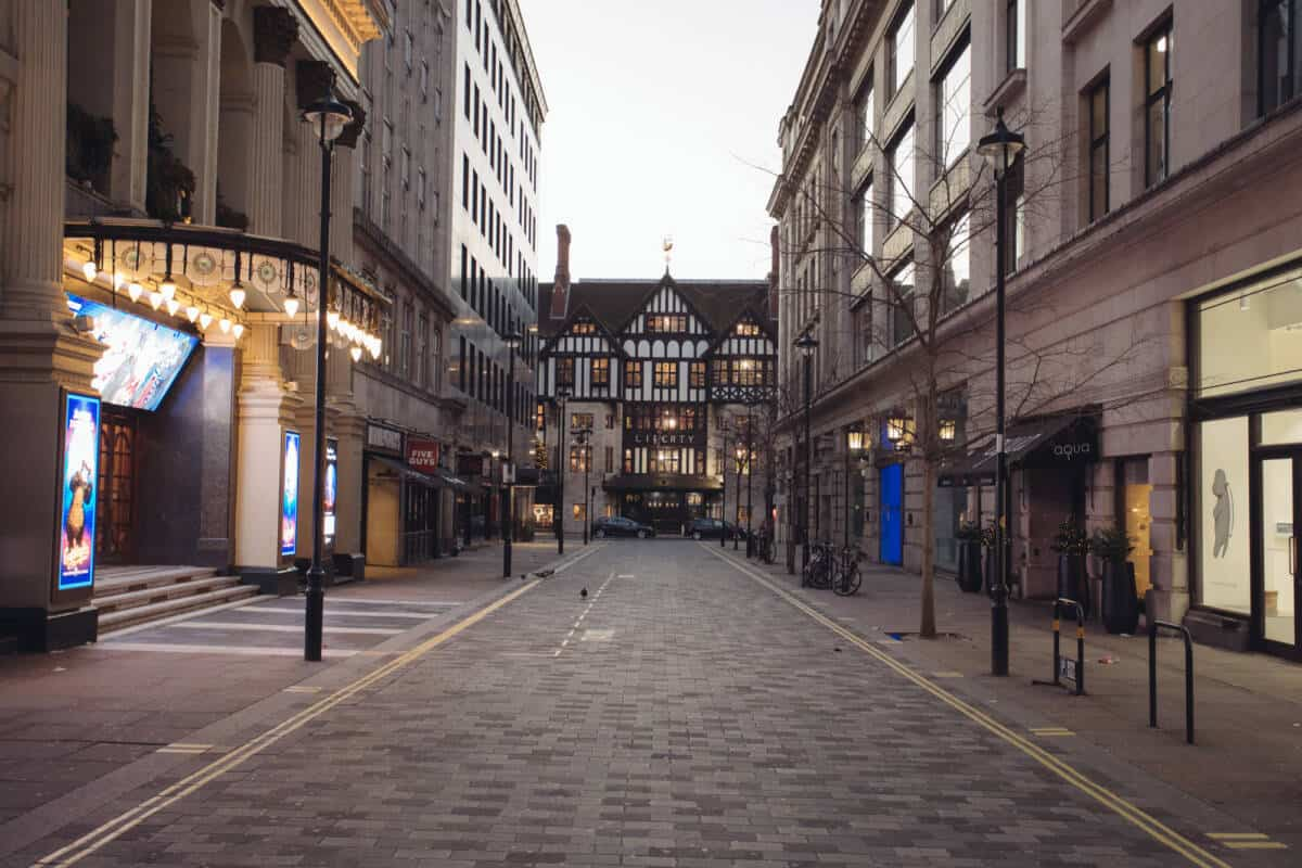 empty deserted london christmas day