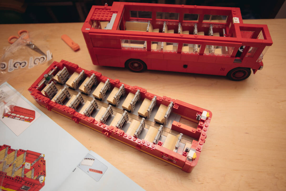 london red bus lego